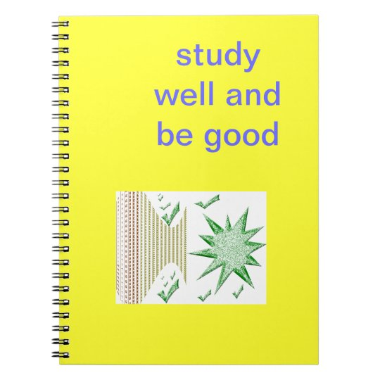 notebook for writing.