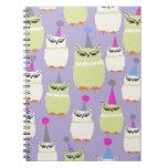 Notebook- Grape Screech Owls! Spiral Notebooks