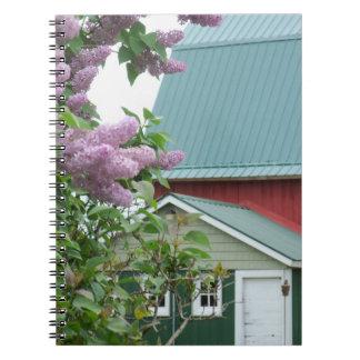 Notebook Homestead Farm Rural Red Barn Americana