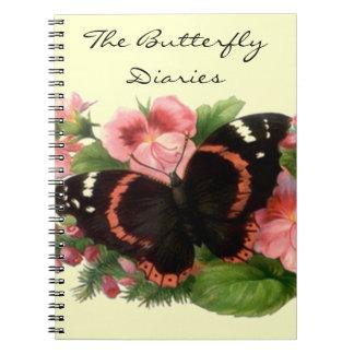 Notebook Journal Butterfly Diaries Garden Diary