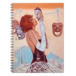 Notebook Journal Comedy Tragedy Masks Drama Diary