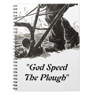 Notebook Journal Diary Plough Monday God Speed the