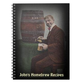 Notebook Journal Homebrew Recipe Book Personalized