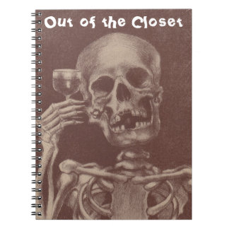 Notebook Journal Sepia Skeleton Out of the Closet
