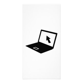 Notebook laptop mouse cursor photo card