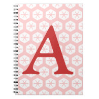 Notebook - Letter with Snowflake Pattern