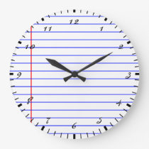 Notebook Lines Large Clock