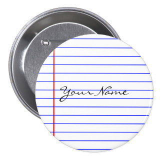 Notebook Lines (Put Your Name) Button