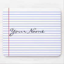 Notebook Lines (Put Your Name) Mouse Pad