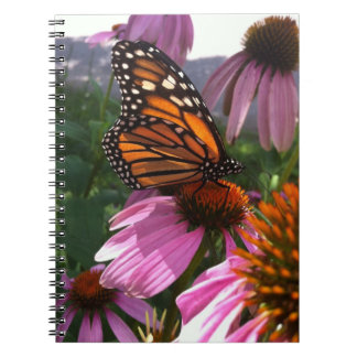Notebook - Monarch Butterfly on Coneflowers