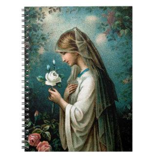 Notebook: Mystical Rose Spiral Notebooks