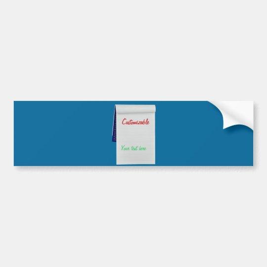 Notebook Notes Customizable Bumper Sticker