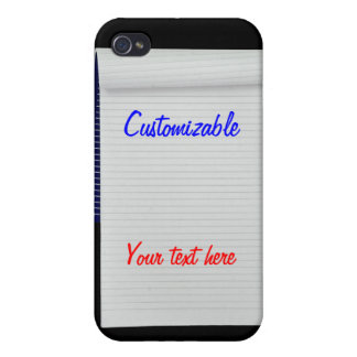 Notebook Notes Customizable iPhone 4 Cases