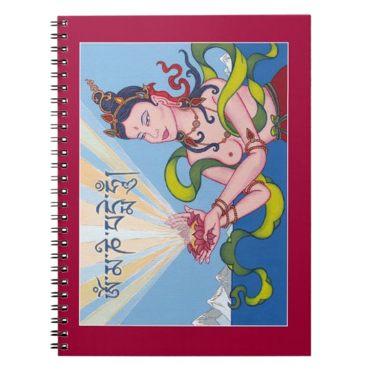NOTEBOOK - Offering Goddess with Lotus and Mantra