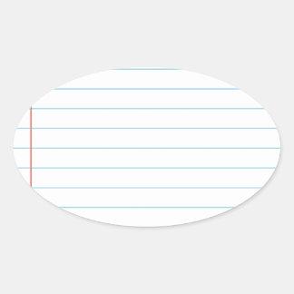 Notebook Oval Sticker