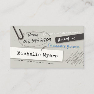Notebook business cards templates zazzle notebook page business card colourmoves