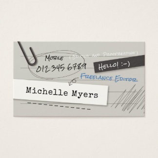 Notebook Page Business Card