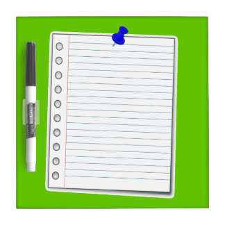 Notebook page Dry-Erase board