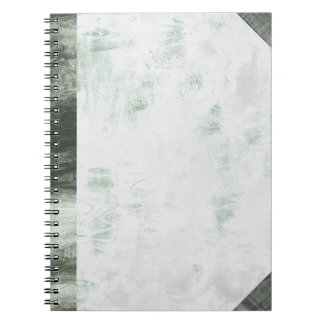 Notebook - Pale Green Fabric Wave Pattern