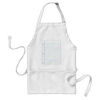 Notebook Paper Adult Apron