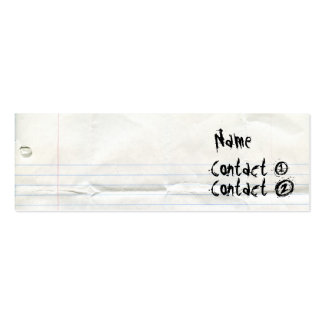 Notebook Paper Business Cards