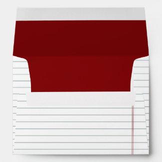 Notebook Paper Custom Envelope