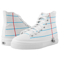 Notebook Paper Graphic Custom High Top Shoes