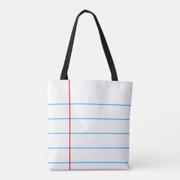 Beach Themed Notebook Paper Graphic© Tote Bag