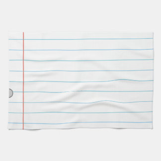 Notebook Paper Hand Towel