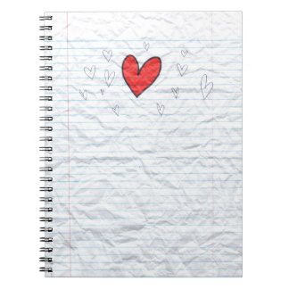 Notebook paper heart