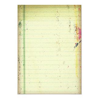 Notebook Paper Invitation