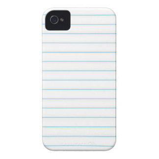 Notebook Paper iPhone 4 Case
