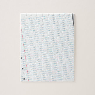 notebook paper jigsaw puzzle