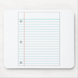 Notebook Paper Mouse Pad