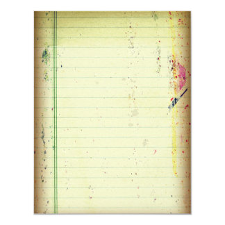 Notebook Paper RSVP Card