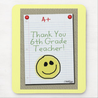 Notebook Paper Thank You for Middle School Teacher Mouse Pad