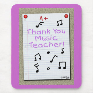 Notebook Paper  Thank You Music Teacher Mouse Pad
