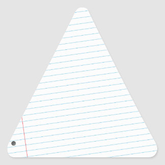 notebook paper triangle sticker
