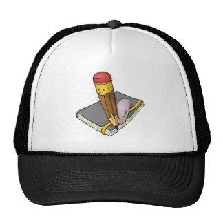 Notebook Pencil and Eraser Trucker Hat