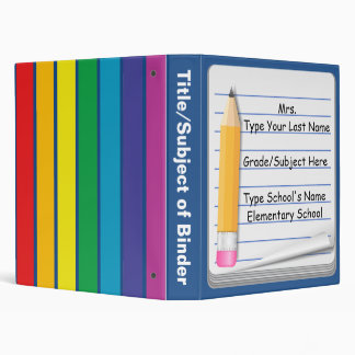 Notebook & Pencil - Personalized Teacher Binder
