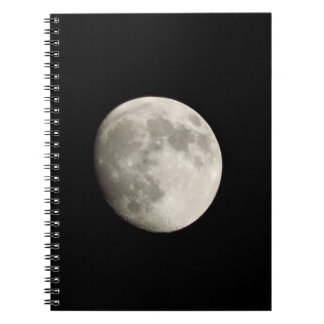 Notebook / Personal Journal - full moon on dark sk
