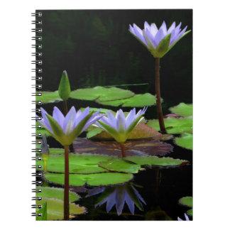 Notebook / Personal Journal - purple water lilies