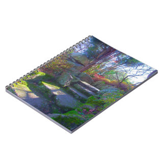 notebook, photo from japanese garden. Hobart Aust. Notebook