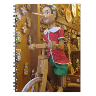 Notebook--Pinocchio Doll Spiral Notebook