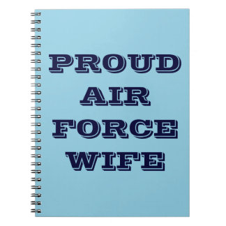 Notebook Proud Air Force Wife