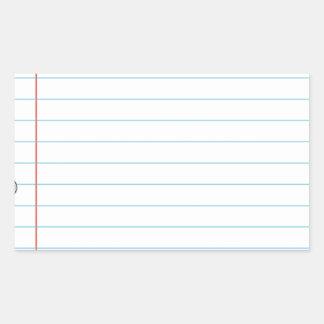 Notebook Rectangular Sticker