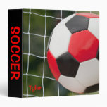 Notebook Red White and Black with Net Vinyl Binder