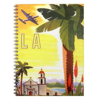 Notebook Retro LA Book Travel Journal Notebook