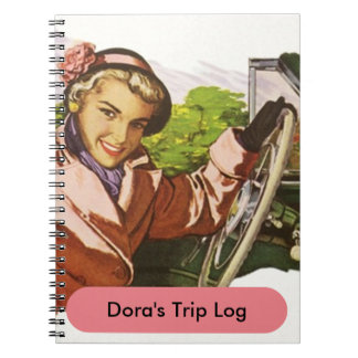 Notebook Retro Road Trip Travel Log Journal