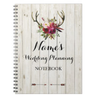 Notebook Rustic Wedding Planning Ideas Notes Bride